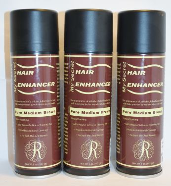 My Secret Hair Enhancer Spray Pure Medium Brown 5oz (3 pack)