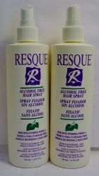 Resque Alcohol Free Hair Spray 12oz (2 pack) Total = 24oz