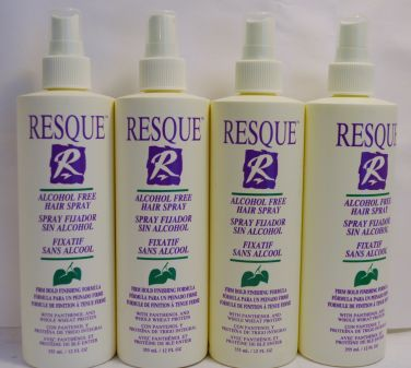Resque Alcohol Free Hair Spray 12oz (4 pack) Total = 48oz