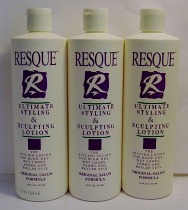 Resque Ultimate Styling & Sculpting Lotion 16oz (3 pack) Total = 48oz