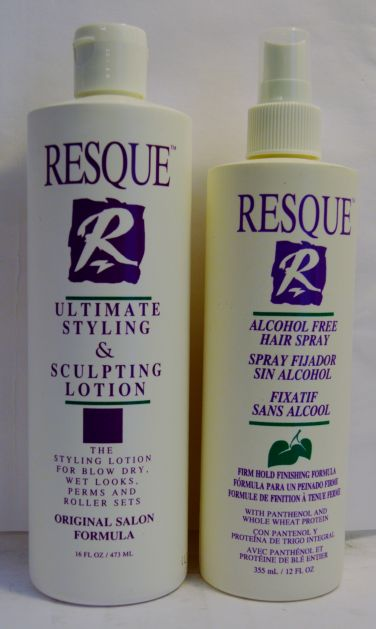 Resque Alcohol Free Hair Spray 12oz and Ultimate Styling & Sculpting Lotion 16oz set (2 pack)