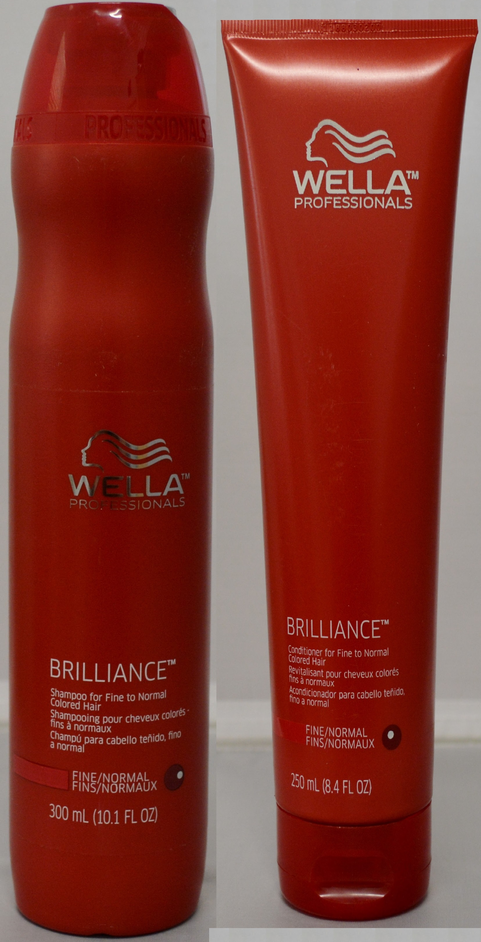 Wella Brilliance Shampoo 10.1oz & Conditioner 8.4oz for Fine to Normal Colored Hair (2 pack)