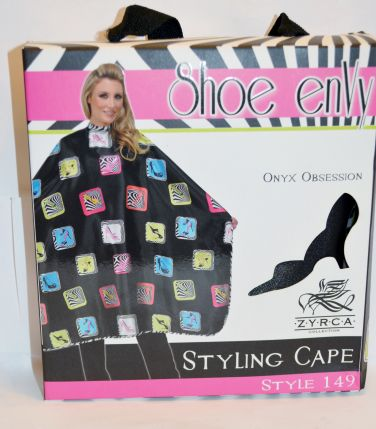 "Betty Daine Styling Cape ""Shoe Envy"" #149"