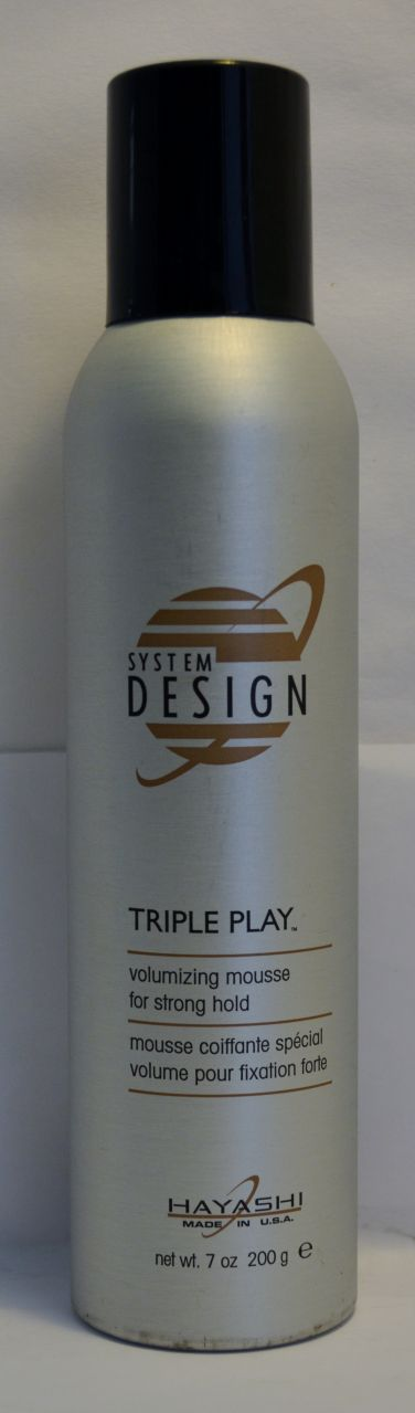 Hayashi System Design Triple Play Volumizing Mousse for Strong Hold 7oz