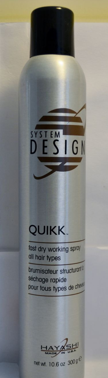 Hayashi System Design Quikk Fast Dry Working Spray All Hair Types 10.6oz