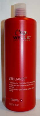 Wella Brilliance Conditioner for Fine to Normal Colored Hair 33.8oz