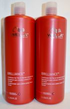 Wella Brilliance Conditioner for Fine to Normal Colored Hair 33.8oz (2 pack)