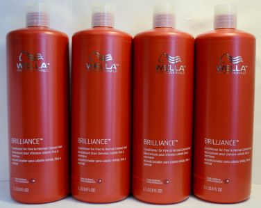 Wella Brilliance Conditioner for Fine to Normal Colored Hair 33.8oz (4 pack)