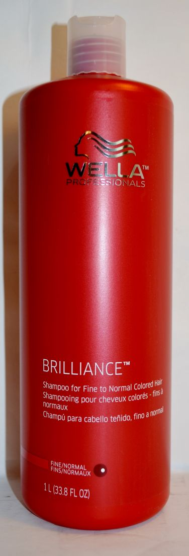 Wella Brilliance Shampoo for Fine to Normal Colored Hair 33.8oz