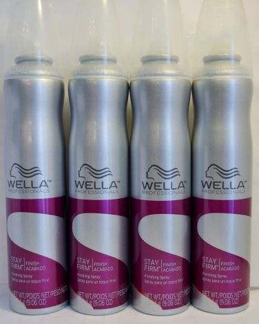 Wella Stay Firm Finishing Spray 9.06oz (4 pack)